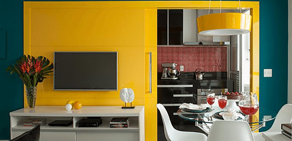 Amarelo e a influência das cores na decoração.